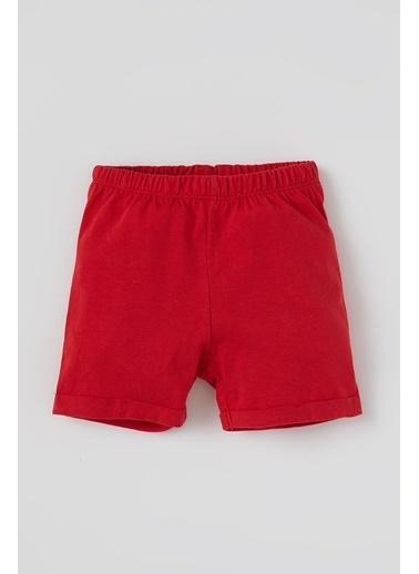 DeFacto Erkek Bebek Basic Esnek Belli Şort Kırmızı